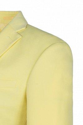 High Quality Peak Lapel Groomsmen Slim Fit Daffodil Single Breasted_4