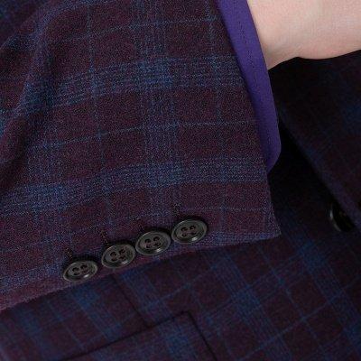Custom Made Comfortable Lattice Two-piece Suit Peak Lapel_4