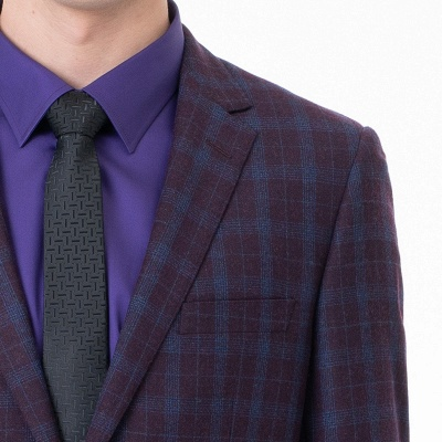 Custom Made Comfortable Lattice Two-piece Suit Peak Lapel_5