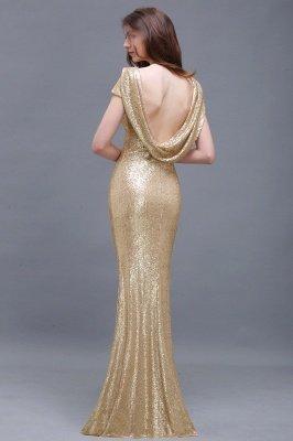 Mermaid Sparkly Sequins Scoop Short-Sleeves Floor-Length Bridesmaid Dresses_6