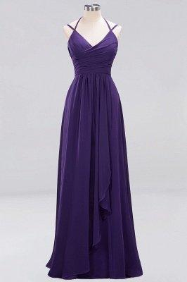 A-line  Spaghetti Straps Sleeveless Ruffles Floor-Length Bridesmaid Dresses_11