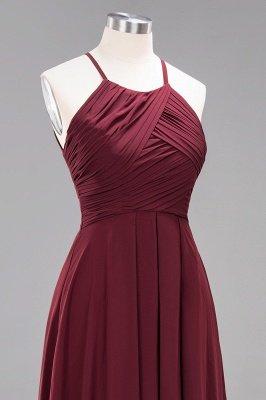 A-Line  Halter Ruffles Floor-Length Bridesmaid Dress_46
