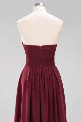 A-line  Sweetheart Strapless Ruffles Floor-length Bridesmaid Dress_47