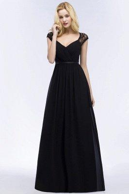 Elegant Mermaid Lace V-Neck Sleeveless Floor-Length Bridesmaid Dresses with Sash_6