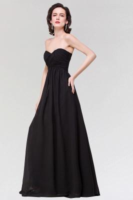 A-line  Strapless Sweetheart Sleeveless Floor-Length Bridesmaid Dress with Ruffles_3