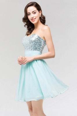 A-line  Strapless Sweetheart Sleeveless Ruffles Mini Bridesmaid Dress with Beadings_5