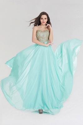 A-line  Strapless Sweetheart Sleeveless Floor-Length Bridesmaid Dress with Beadings_3