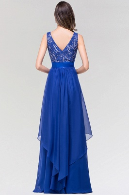 A-line  Lace Jewel Sleeveless Floor-length Bridesmaid Dresses_2