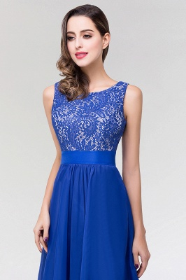 A-line  Lace Jewel Sleeveless Floor-length Bridesmaid Dresses_6