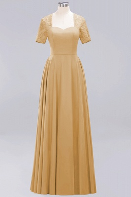 A-Line Chiffon Bridesmaid Dresses | Sweetheart Cap Sleeves Lace Wedding Party Dresses_9