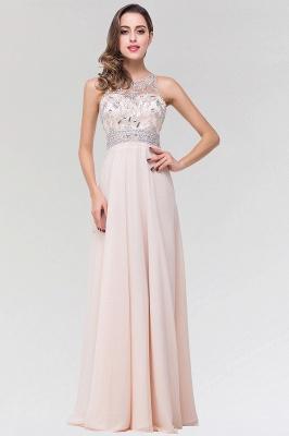 Elegant A-Line   Scoop Sleeveless Floor-Length Bridesmaid Dress with Beadings_1