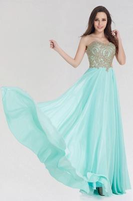 A-line  Strapless Sweetheart Sleeveless Floor-Length Bridesmaid Dress with Beadings_4