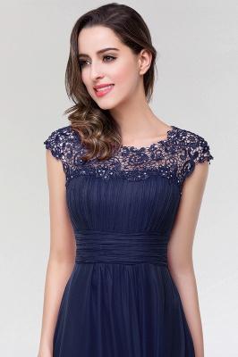 A-line  Lace Jewel Sleeveless Floor-length Bridesmaid Dresses_4