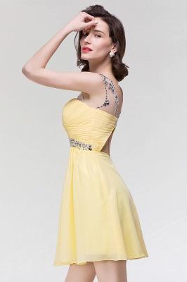 A-Line  Sweetheart Sleeveless Ruffles Mini Bridesmaid Dress with Beading_4