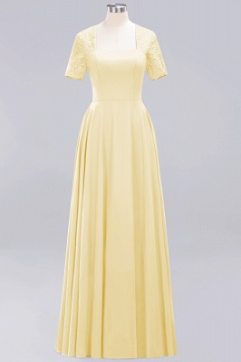 A-Line Chiffon Bridesmaid Dresses | Sweetheart Cap Sleeves Lace Wedding Party Dresses_11