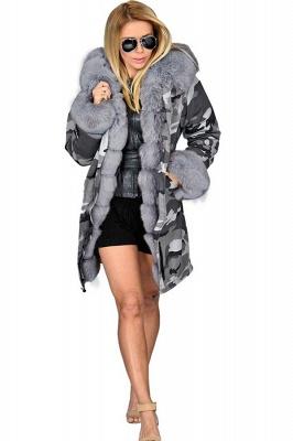 Grey Camo Military Parka Coat with Premium Fur Trim_5