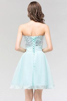 A-line  Strapless Sweetheart Sleeveless Ruffles Mini Bridesmaid Dress with Beadings_2