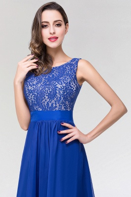 A-line  Lace Jewel Sleeveless Floor-length Bridesmaid Dresses_5