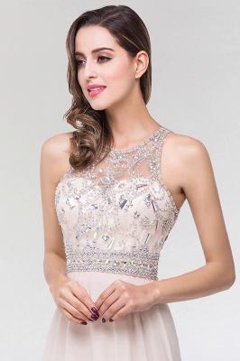 Elegant A-Line   Scoop Sleeveless Floor-Length Bridesmaid Dress with Beadings_6