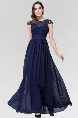 Elegant A-Line  Lace Scoop Sleeveless Ruffles Floor-Length Bridesmaid Dress with beadworks_1
