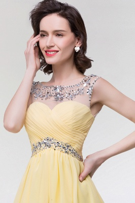 A-Line  Sweetheart Sleeveless Ruffles Mini Bridesmaid Dress with Beading_6