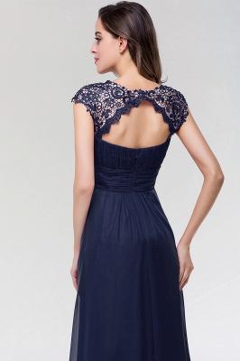A-line  Lace Jewel Sleeveless Floor-length Bridesmaid Dresses_5