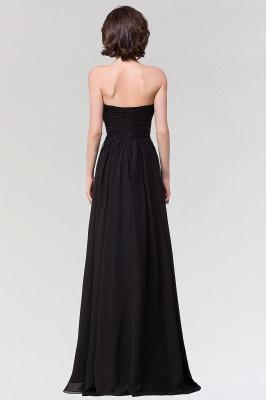 A-line  Strapless Sweetheart Sleeveless Floor-Length Bridesmaid Dress with Ruffles_2