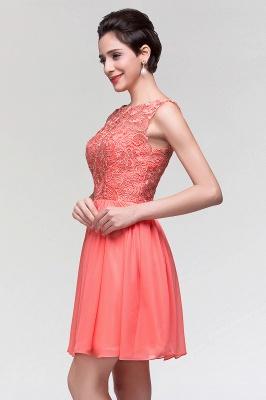 A-Line  Lace Scoop Sleeveless Ruffles Mini Bridesmaid Dress_6