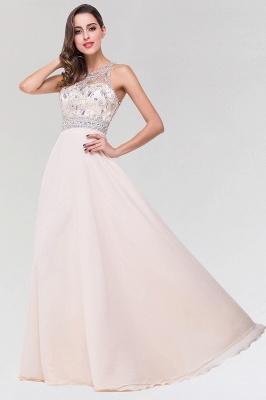 Elegant A-Line   Scoop Sleeveless Floor-Length Bridesmaid Dress with Beadings_3