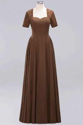 A-Line Chiffon Bridesmaid Dresses | Sweetheart Cap Sleeves Lace Wedding Party Dresses_8