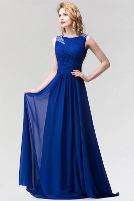 A-line  Jewel Sleeveless Ruffles Floor-Length Bridesmaid Dress with Beadings_3