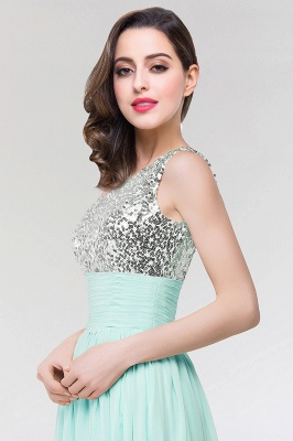 A-line  One-Shoulder Sleeveless Floor-Length Bridesmaid Dress with Sequins_4