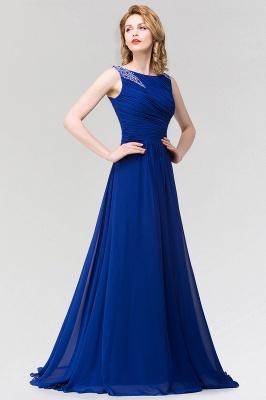 A-line  Jewel Sleeveless Ruffles Floor-Length Bridesmaid Dress with Beadings_5