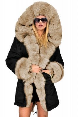 Hunt Camo Military Parka Coat with Premium Brown Fur Trim_7