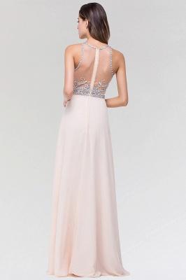 Elegant A-Line   Scoop Sleeveless Floor-Length Bridesmaid Dress with Beadings_2