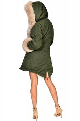 Hunt Camo Military Parka Coat with Premium Brown Fur Trim_4