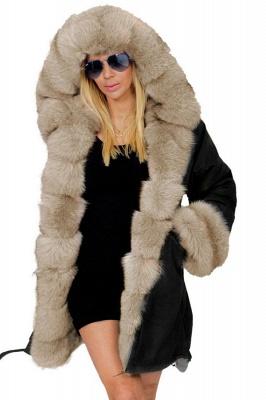 Hunt Camo Military Parka Coat with Premium Brown Fur Trim_1