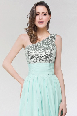 A-line  One-Shoulder Sleeveless Floor-Length Bridesmaid Dress with Sequins_3