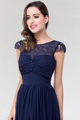 Elegant A-Line  Lace Scoop Sleeveless Ruffles Floor-Length Bridesmaid Dress with beadworks_6
