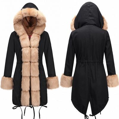 Hunt Camo Military Parka Coat with Premium Brown Fur Trim_8