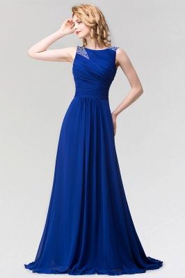A-line  Jewel Sleeveless Ruffles Floor-Length Bridesmaid Dress with Beadings_1