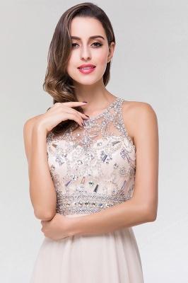 Elegant A-Line   Scoop Sleeveless Floor-Length Bridesmaid Dress with Beadings_5