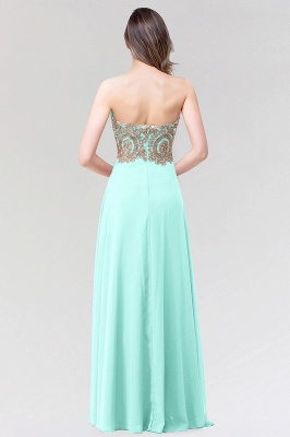 A-line  Strapless Sweetheart Sleeveless Floor-Length Bridesmaid Dress with Beadings_2