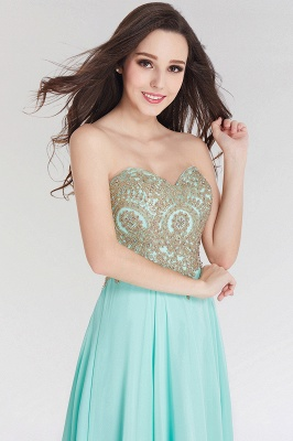 A-line  Strapless Sweetheart Sleeveless Floor-Length Bridesmaid Dress with Beadings_5