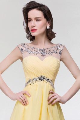 A-Line  Sweetheart Sleeveless Ruffles Mini Bridesmaid Dress with Beading_5