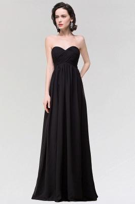 A-line  Strapless Sweetheart Sleeveless Floor-Length Bridesmaid Dress with Ruffles_1
