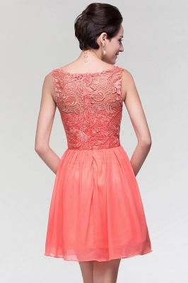 A-Line  Lace Scoop Sleeveless Ruffles Mini Bridesmaid Dress_2
