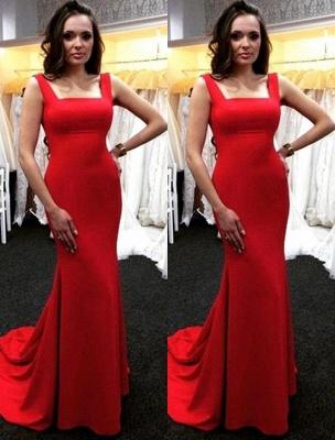 Mermaid Sexy Sleeveless Long Zipper Ruby Evening Dresses_2