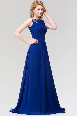 A-line  Jewel Sleeveless Ruffles Floor-Length Bridesmaid Dress with Beadings_4