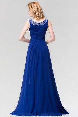 A-line  Jewel Sleeveless Ruffles Floor-Length Bridesmaid Dress with Beadings_2
